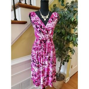 Just Love Pink and White Floral Dress Size 1X